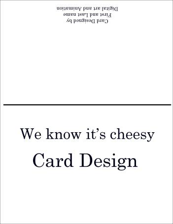 cheesecard